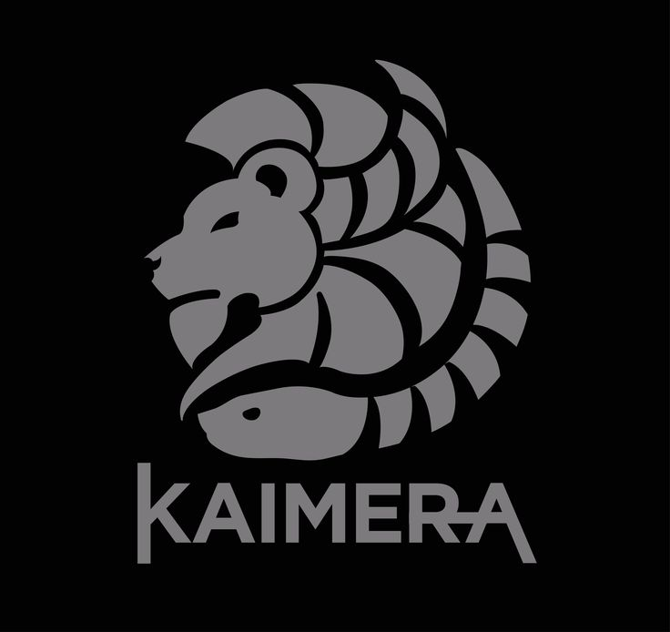 The Chimaera, spelled out here as Kaimera, a monstrous fire-breathing hybrid creature of Lycia composed of the parts of more than one animal; Lion, Goat, Serpent. Greek Mythology. Design is by Kaimera.rocks