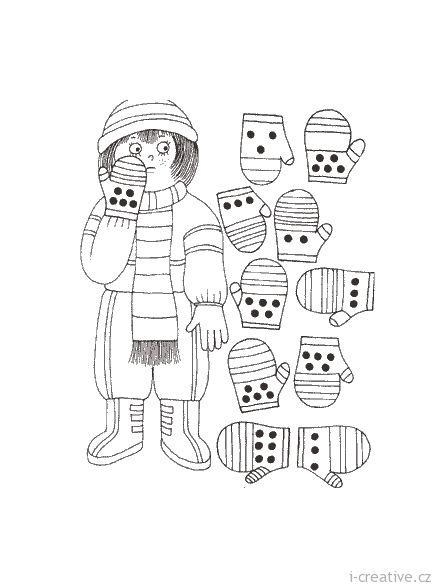 zimní zábavné listy pro děti