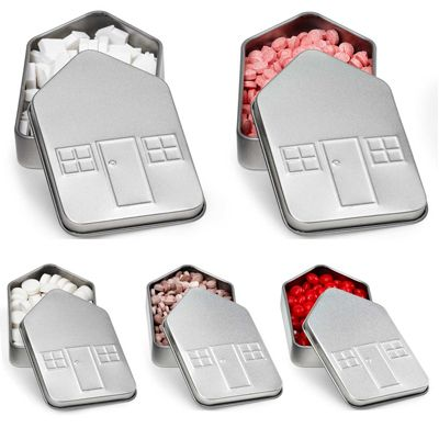 A solid foundation to build your next campaign on! Measuring 3.8 x 2.5 x 0.7, this house shaped tin comes filled your choice of mints. Perfect for real estate agencies, architects, and interior decorators. Present this gift to loyal employees and valued customers. A great marketing tool during corporate events and around the holidays. Customize this reusable tin with your company name and logo to leave a lasting impression!