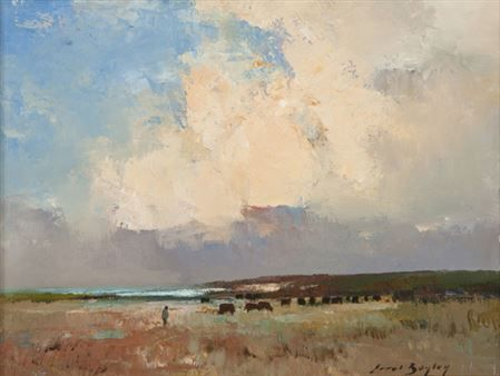 Errol Stephen Boyley - Cattle in an Extensive Landscape
