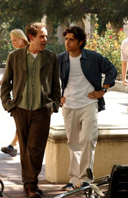 Still of Peter MacNicol and David Krumholtz in Numb3rs (2005)
