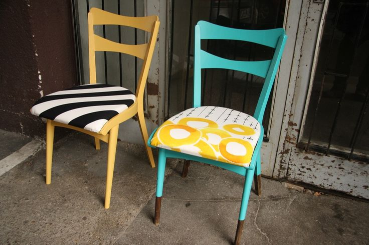Wooden chairs - twin sisters, painted in Vintage Style