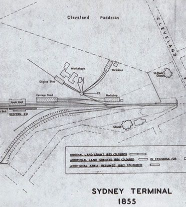 Sydney Terminal Map, 1855