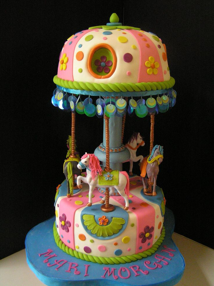 Cake Decorating Carousel : 78 best images about Carousel cakes on Pinterest 1st ...