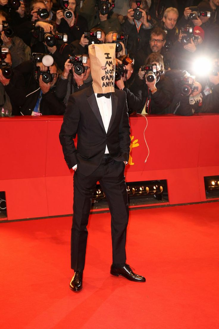 Shia LaBeouf arrives at Berlin Nymphomaniac premiere with paper bag on his head - ''I'm not famous anymore''