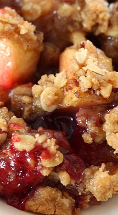 Apple Cranberry Pecan Crumble ❊