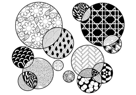 Circles Coloring Page Vector Coloring Pages In 2020 Coloring Pages Color Circle