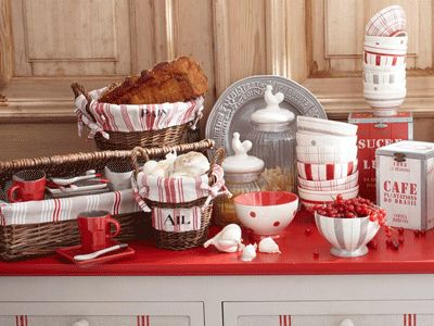 Simple Red Country Kitchen Ideas Find This Pin And More On Gingham White Decor