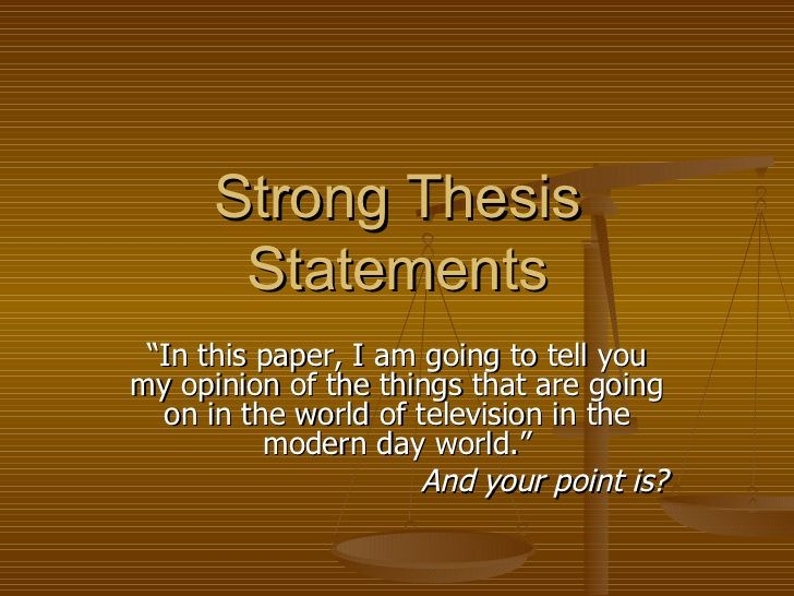 effective thesis statements One thing all well-written essays have in common is a clear focus on a central idea the thesis is the central idea of your essay -- all other ideas support the thesis to form a cohesive unit the.