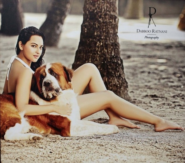 Daboo Ratnani Calender 2013 Photoshoot   Fandiz India - Latest Indian Fashion Trends Only he could make Sonakshi look this thin n Hawt!