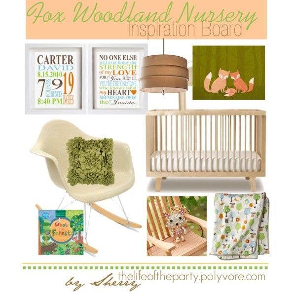 """""""Fox Woodland Nursery"""" by thelifeoftheparty on Polyvore"""