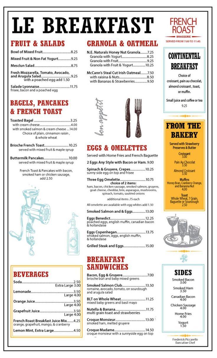 Image result for french cafe menu