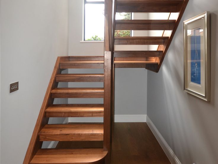 Beautiful walnut wood used to create this lovely set of stairs.