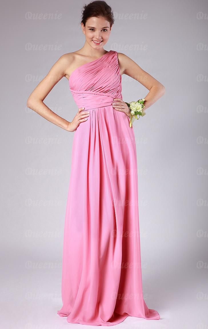 Best 25 pink bridesmaid dresses uk ideas on pinterest ruched one shoulder chiffon a line bridesmaid dress ombrellifo Image collections