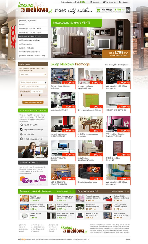 WebDesign 2012 - grafika dla sklepu internetowego Kraina Meblowa