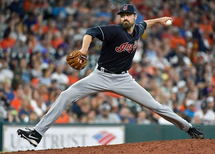 Cleveland Indians relief pitcher Andrew Miller delivers during the eighth inning against the Houston Astros, Saturday, May 20, 2017, in Houston. (AP Photo/Eric Christian Smith) Indians won 3-0