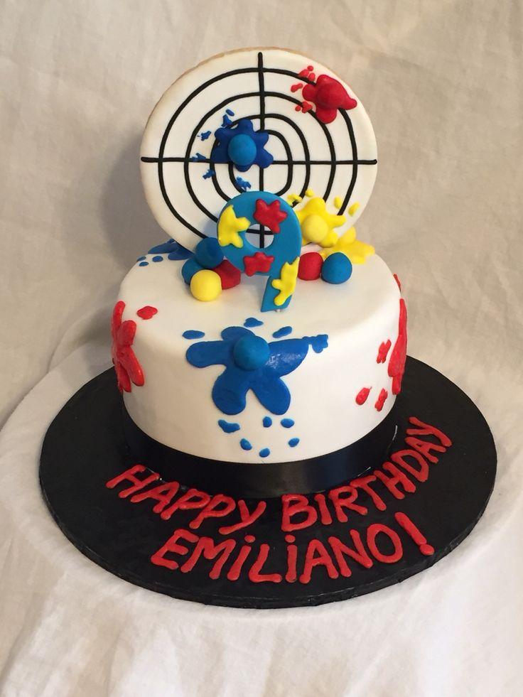 Soccer Ball Cake Design : 1000+ ideas about Paintball Cake on Pinterest Splatter ...