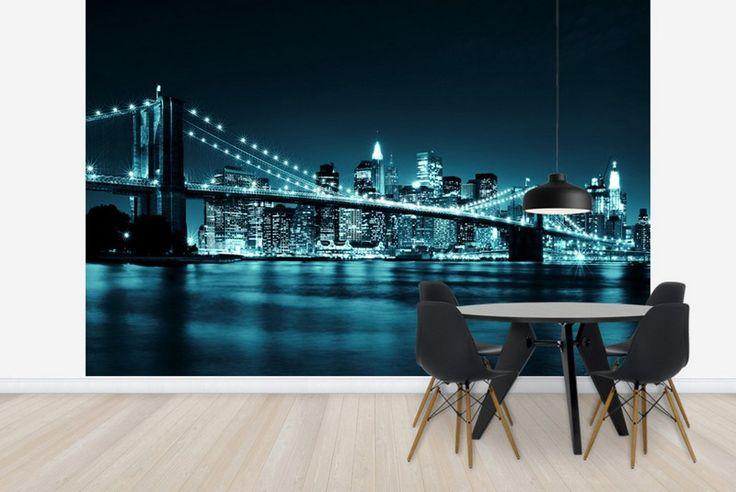 Les 25 meilleures id es concernant chambre new york sur for Decoration murale vue sur new york