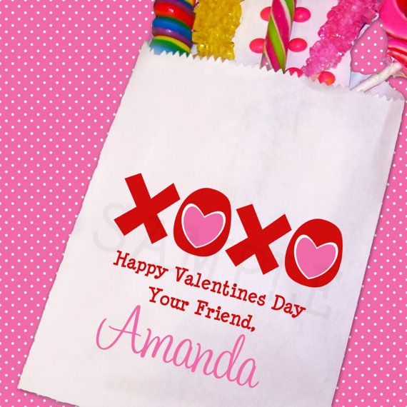 Valentines Day Candy Bags Valentines Day by TheTrendyButterfly,
