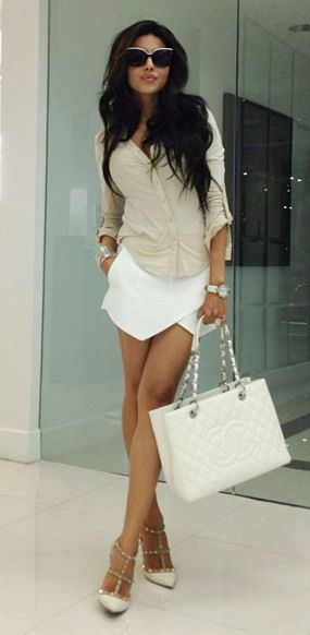 Leyla Milani - outfit PERFECTION! I'm such a beige and white girl... Guilty