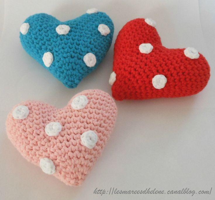 Cœur à pois : on les offre ou on se les garde !!! #crochet #gift