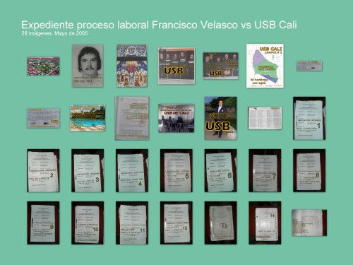 CUADERNOS EXPEDIENTE PROCESO LABORAL FRANCISCO VELASCO vs USB CALI