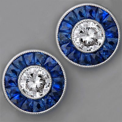 Art Deco Sapphire Earring Settings / i am obsessed with these!!