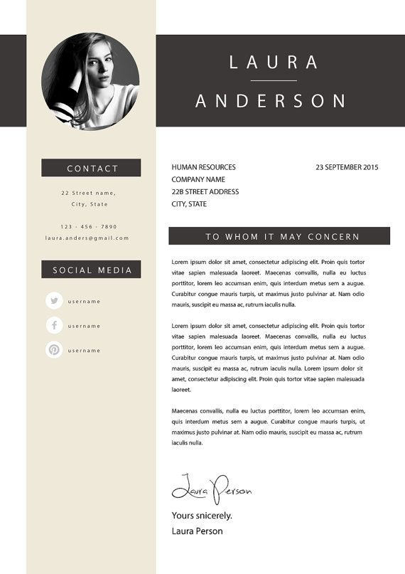creative resume template cv template instant by cvdesignco on etsy - Creative Resume Formats