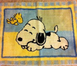 Amazon.com: Lambs & Ivy Little Baby SNOOPY Nursery Throw RUG - Decor: Toys & Games