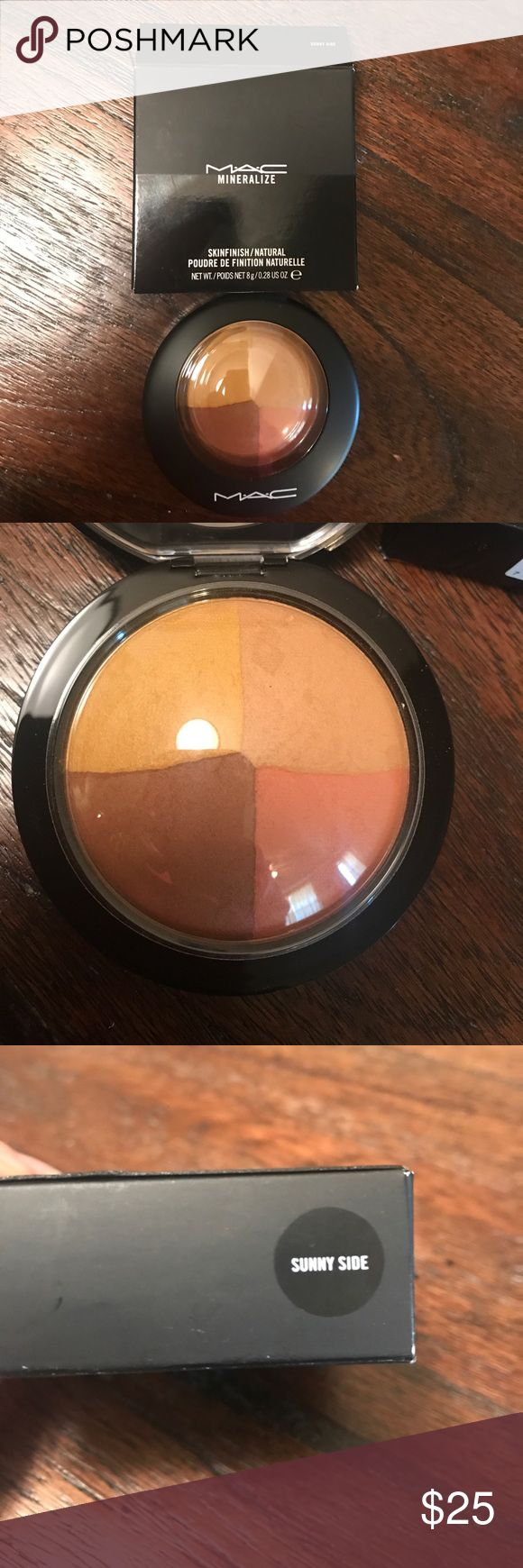 *NWT* MAC Mineralize skinfinish in Sunny side Brand new in box and never used or swatched MAC Mineralized Skinfinish in the shade Sunny side. MAC Cosmetics Makeup