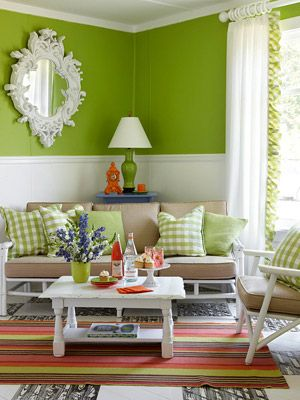 Apple green living room