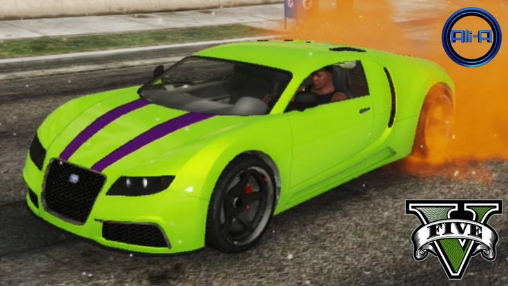 """GTA 5 - """"BUGATTI VEYRON"""" - STUNTS, CUSTOMIZATION & CARS GAMEPLAY! (Grand..."""