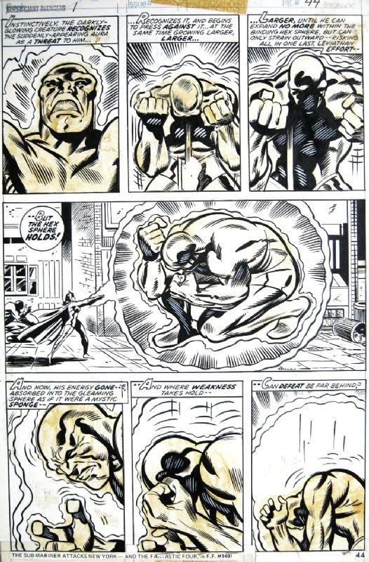 Rich Buckler - Avengers Super-Giant #1 p.44 Comic Art