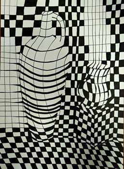 натюрморт в стиле оп-арт. Василиса 10 лет