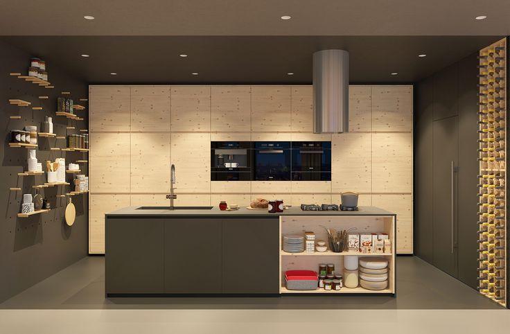 modern apartment black kitchen   VIZN studio