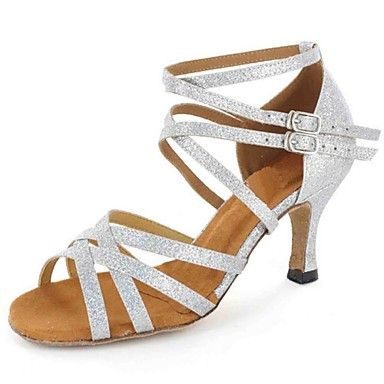 Latin Women's Sandals Customized Heel with Buckie Dance Shoes (More Colors) - USD $ 49.99