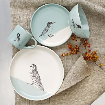 SKT Dinnerware #WestElm I wonder how tricky it is to silkscreen onto dishes? Perhaps a great way to personalize my current plates?