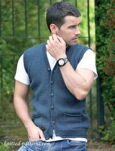 Man's Waistcoat Free Knitting Pattern