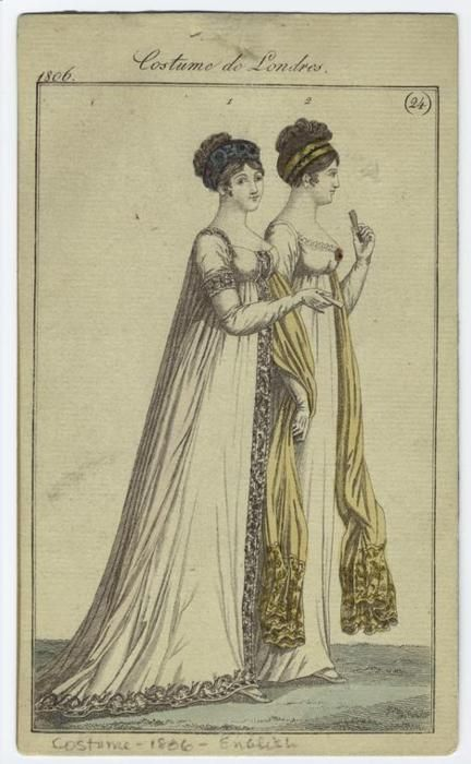 Fashion plate, 1806 England, Costume de Londres