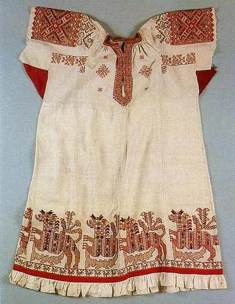 Женская рубаха,19й век,центральная Россия.