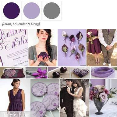 Plum, Lavender + Gray via The Perfect Palette Library. xo