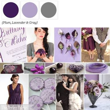 Purples and grey color scheme