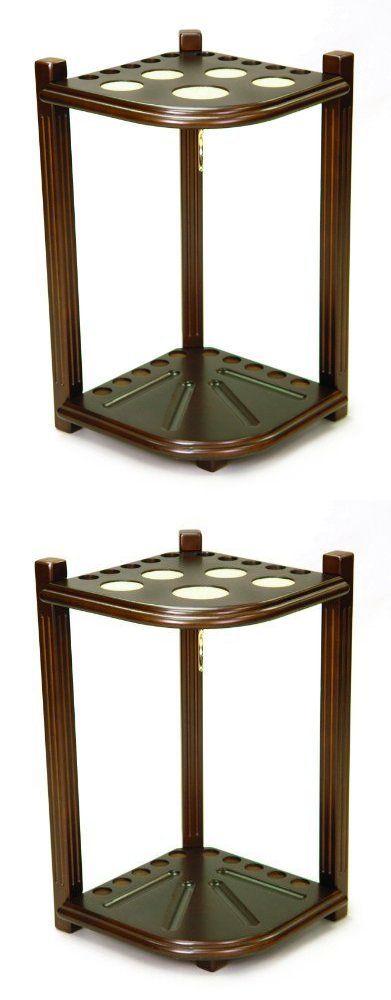 Ball and Cue Racks 75185: Hardwood Corner Floor Billiard Pool Cue Rack Holds 10 Cues Antique Walnut, New -> BUY IT NOW ONLY: $145.29 on eBay!