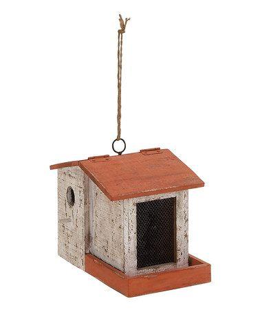 Loving this Wood Birdhouse on #zulily! #zulilyfinds