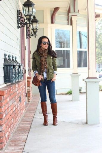 Green military jacket outfit pinterest