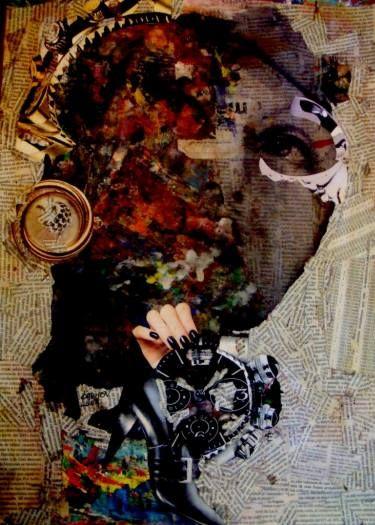 "Saatchi Art Artist CARMEN LUNA; Collage, ""39- Greta Garbo x Carmen Luna."" #art"