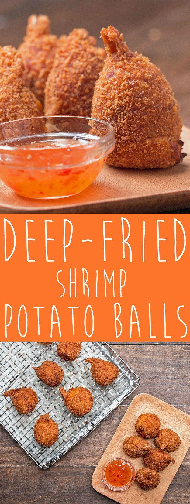 Deep-Fried Shrimp Potato Balls | Trust Your Instincts And Make These Heavenly Deep-Fried Shrimp Potato Balls