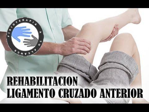 Rehabilitacion del LCA o ligamento cruzado anterior Fase 1, ejercicios y...