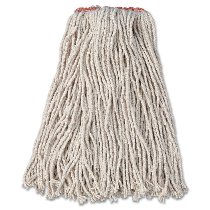 Rubbermaid Commercial RCPF11612 Premium Cut-End Cotton Wet Mop Head 16 oz 12 C White Janitorial Supplies Cleaning Tools Mop Heads