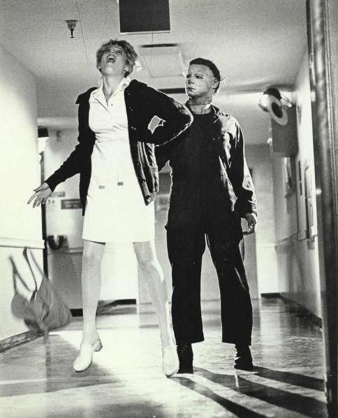 Halloween II, 1981. Michael dispatches Nurse Jill Franco (Tawny Moyer).